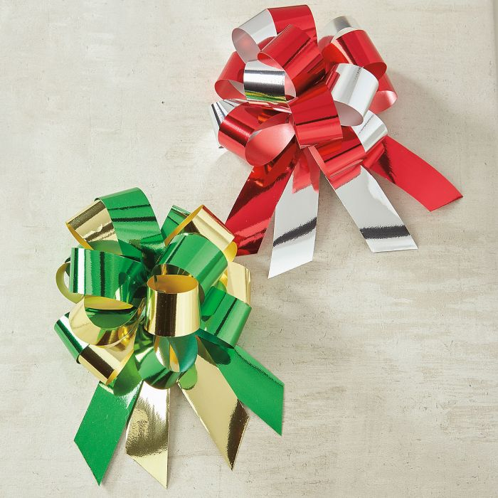 Metallic Holiday Pull Bows