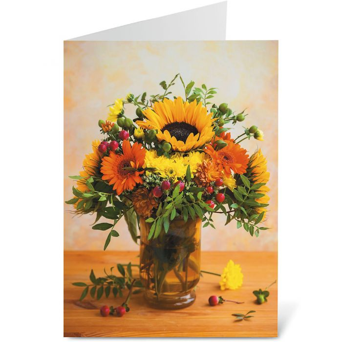 Fall Bouquet Note Cards - BOGO