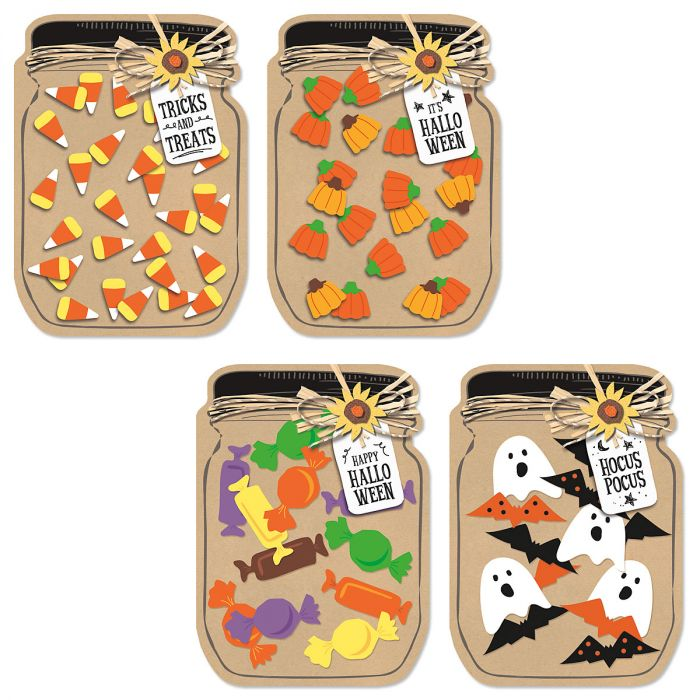 Kraft Mason Jar Halloween Cards