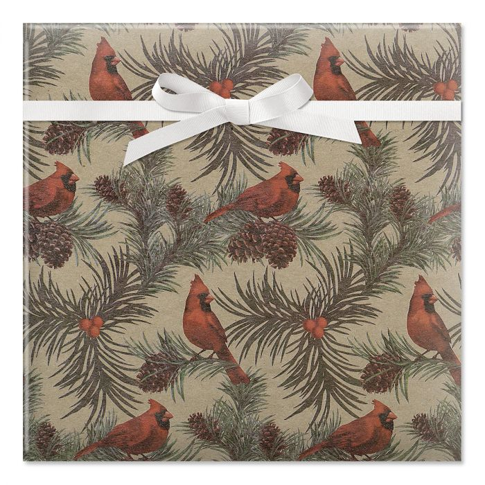 Cardinals Jumbo Rolled Gift Wrap