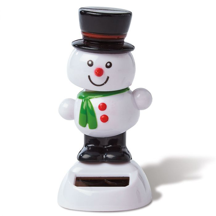 Snowman Holiday Solar Dancer