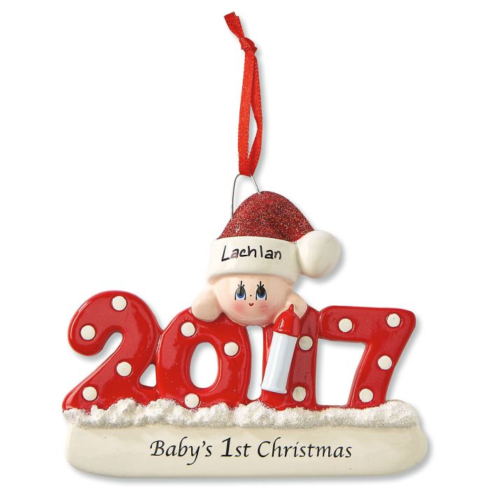 Baby's First Personalized Christmas Ornament