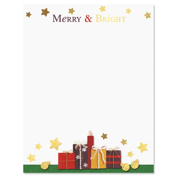 Deluxe Merry and Bright Christmas Letter Papers