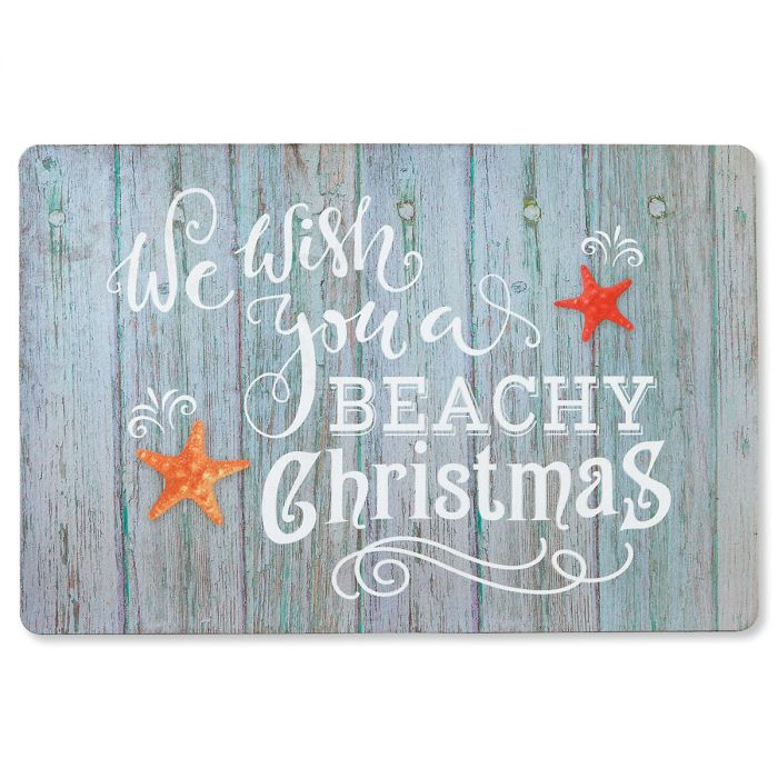 Beachy Christmas Doormat