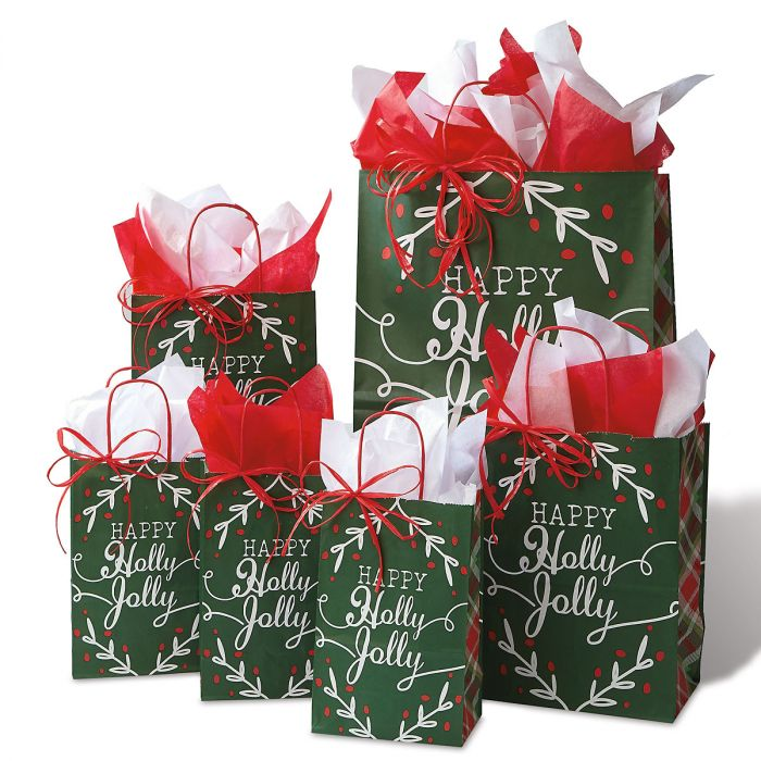 Happy Holidays Gift Bag Set