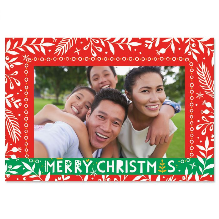 Merry Christmas Photo Sleeve Christmas Cards