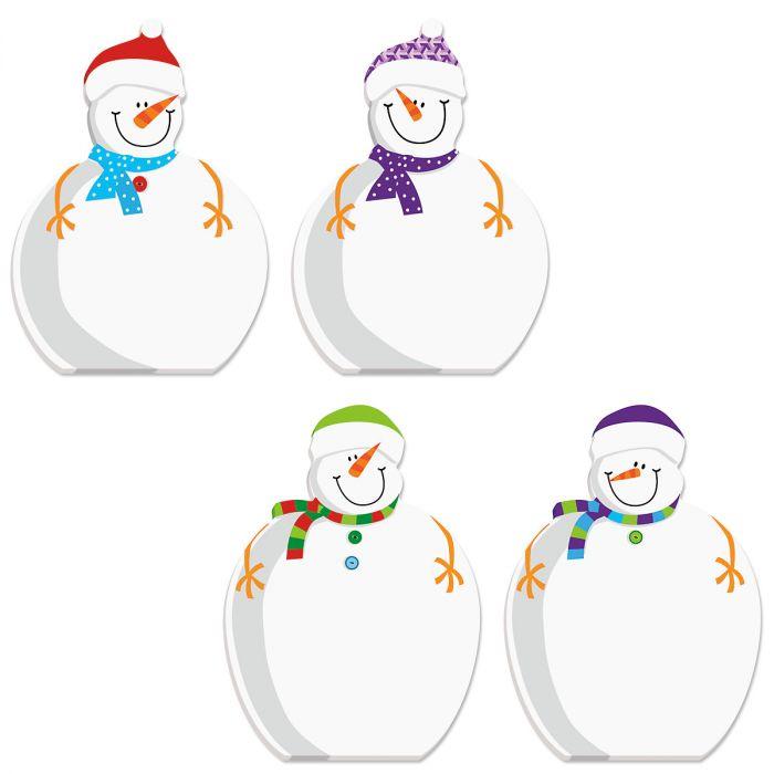 Die-Cut Snowman Notepads