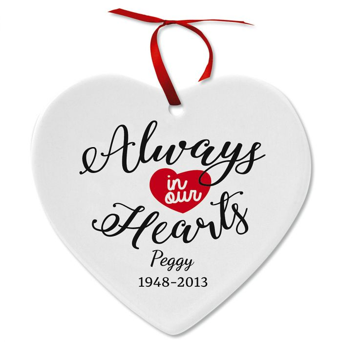 Remembrance Ceramic Personalized Christmas Ornament