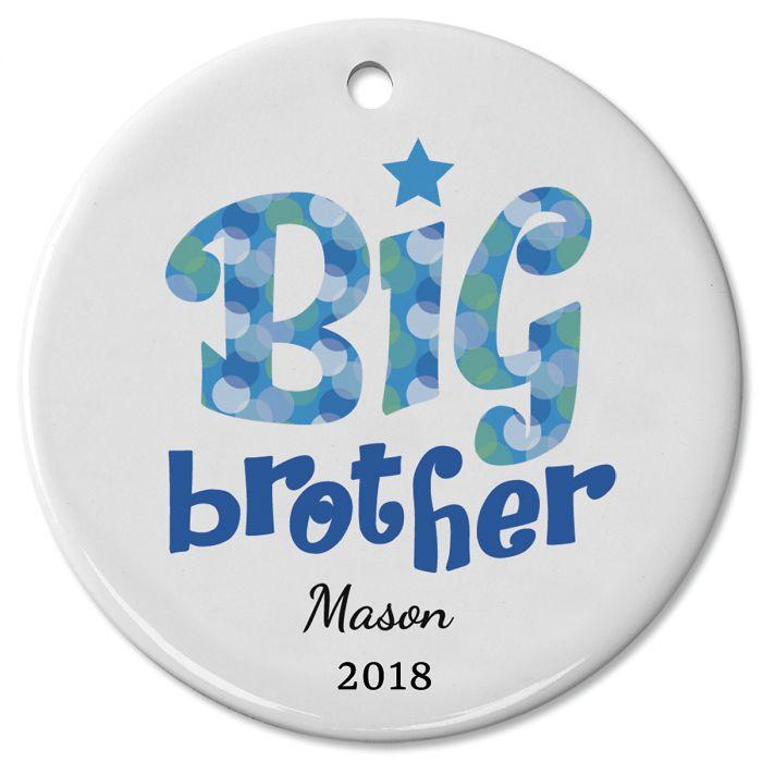Personalized Big Brother Ceramic Ornament