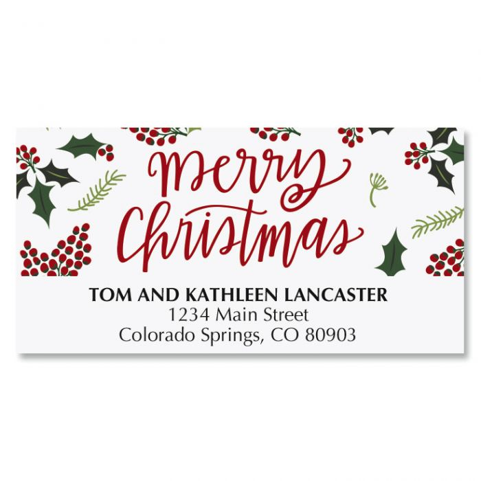 Berry Border Deluxe Address Labels