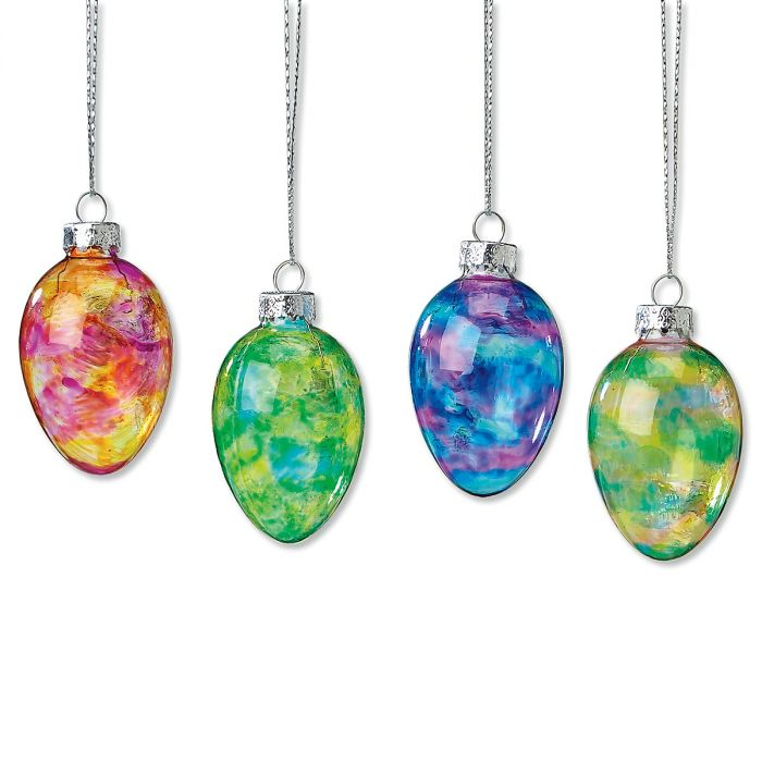 Glass Ornament Easter Eggs