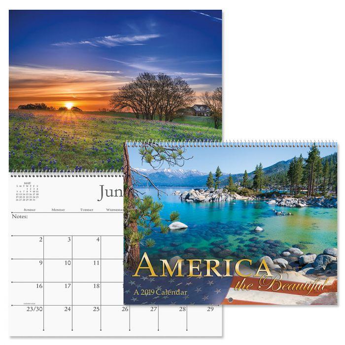 2019 America the Beautiful Wall Calendar