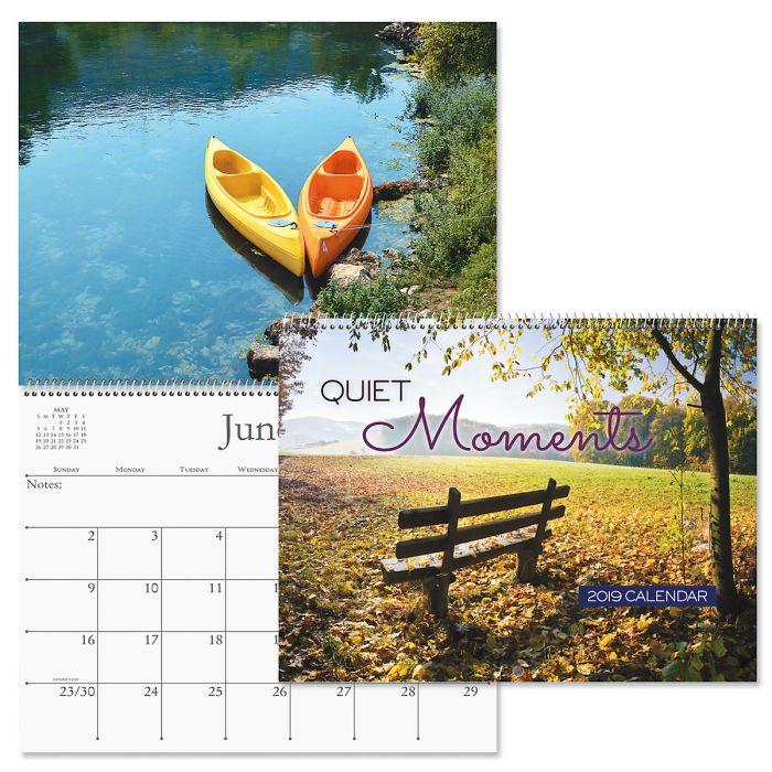 2019 Quiet Moments Wall Calendar