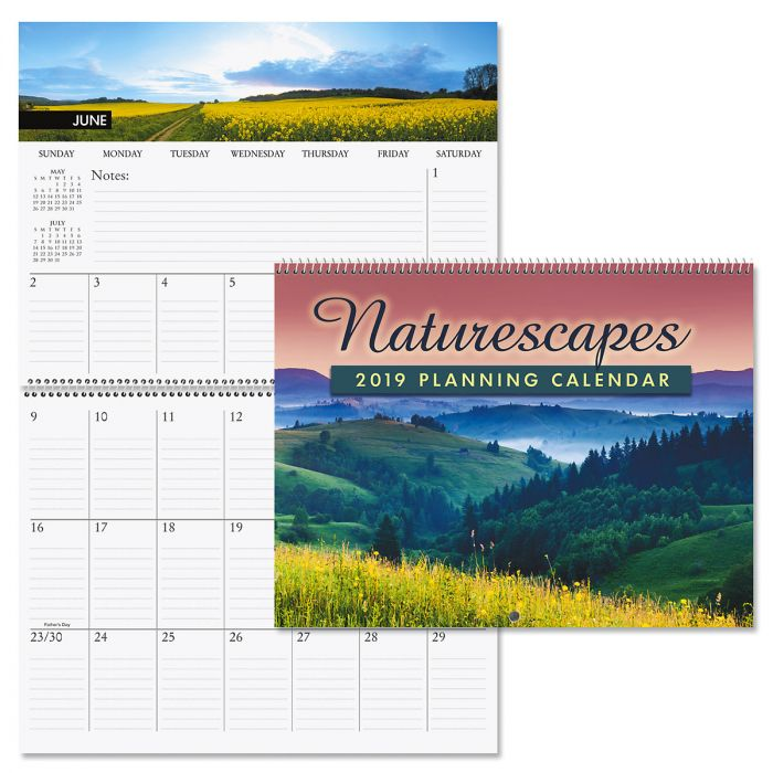 2019 Naturescapes Big Grid Planning Calendar