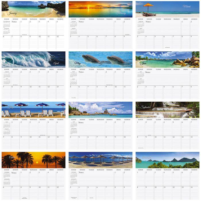 2019 Tropical Big Grid Planning Calendar