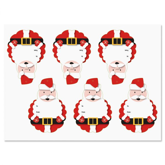 Die Cut Santa Tags - BOGO
