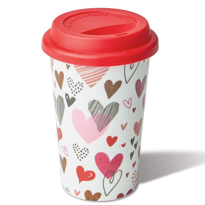 Ceramic Valentine Travel Mug