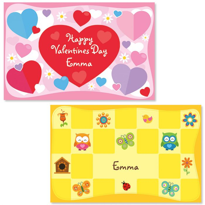 Hearts Personalized Kids' Placemats