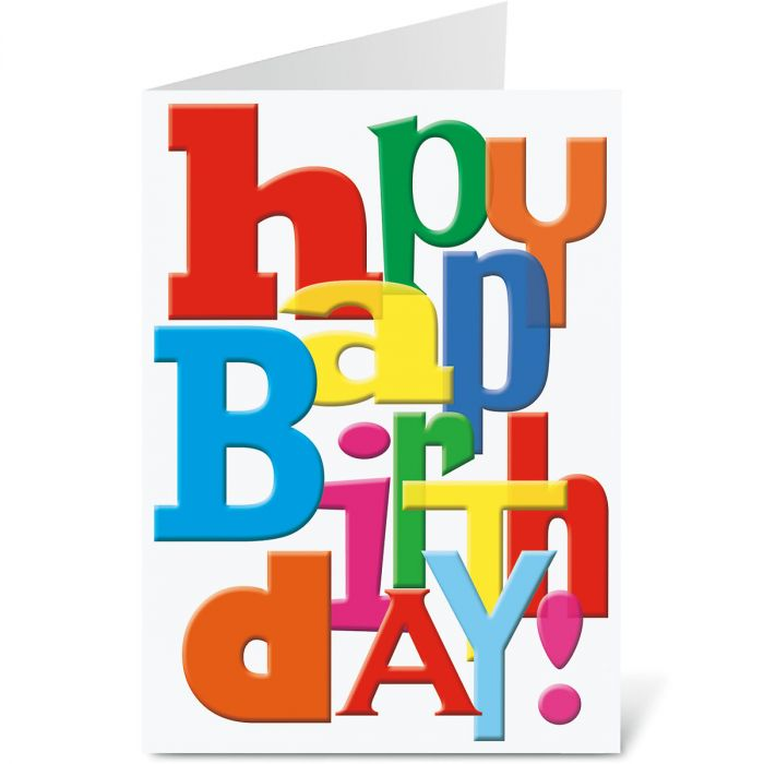 Big Happy Birthday Letters Birthday Card - BOGO