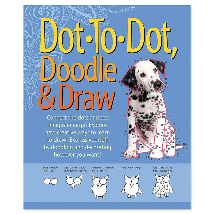Dot, Doodle & Draw Adult Book