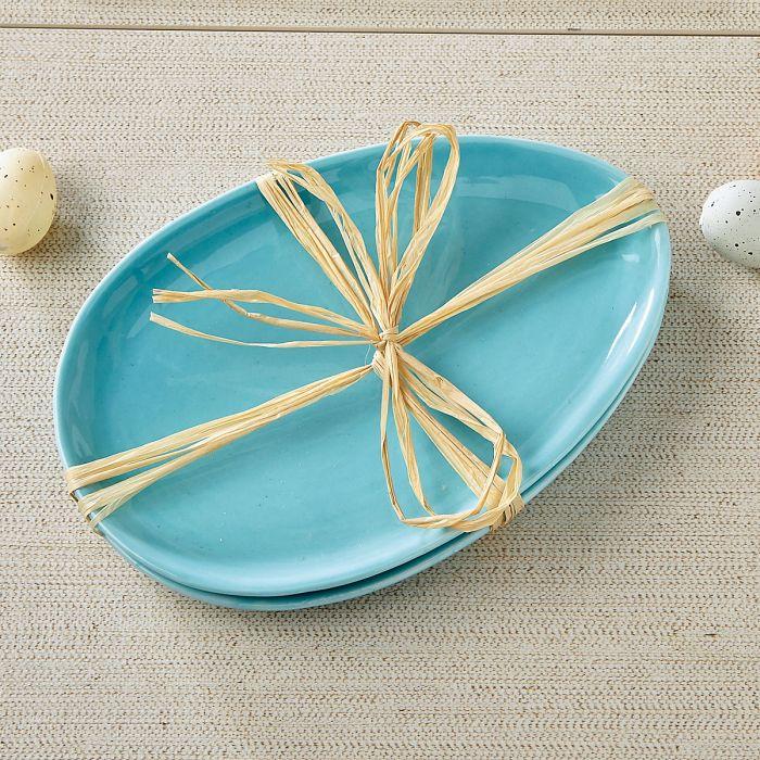 Egg-Shaped Tidbit Plates