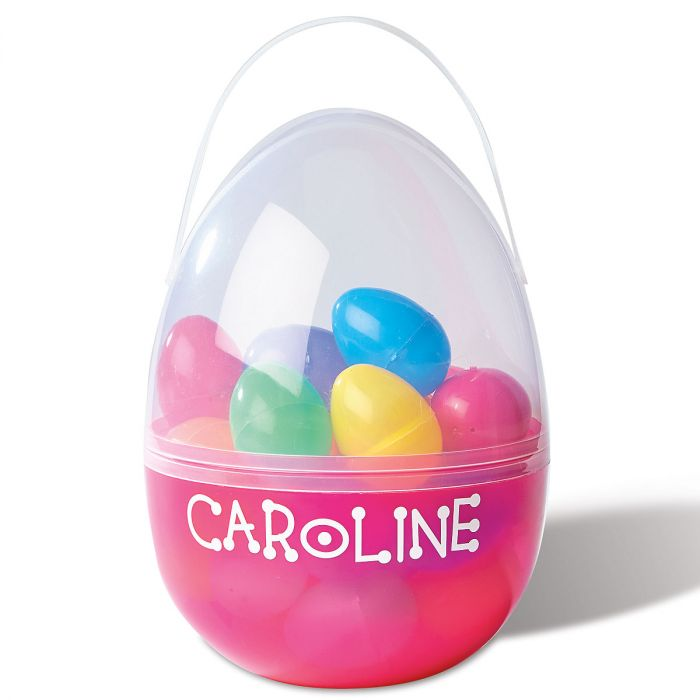 Kids Personalized Pink Plastic Easter Egg