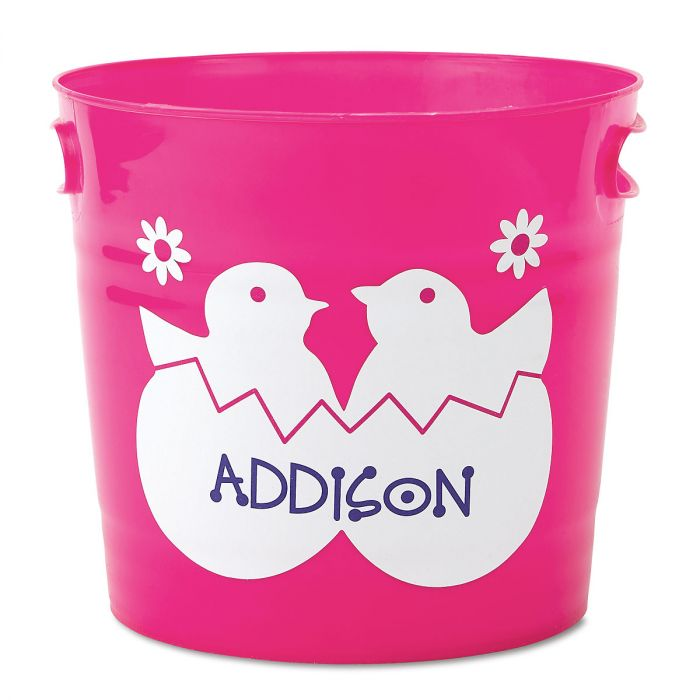 Kids Personalized Pink Easter Bucket