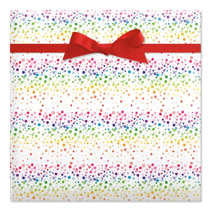 Birthday Confetti Jumbo Rolled Gift Wrap