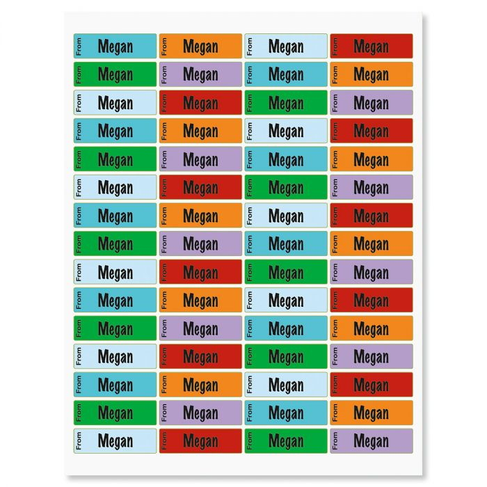 Personalized Kid's Name Stickers