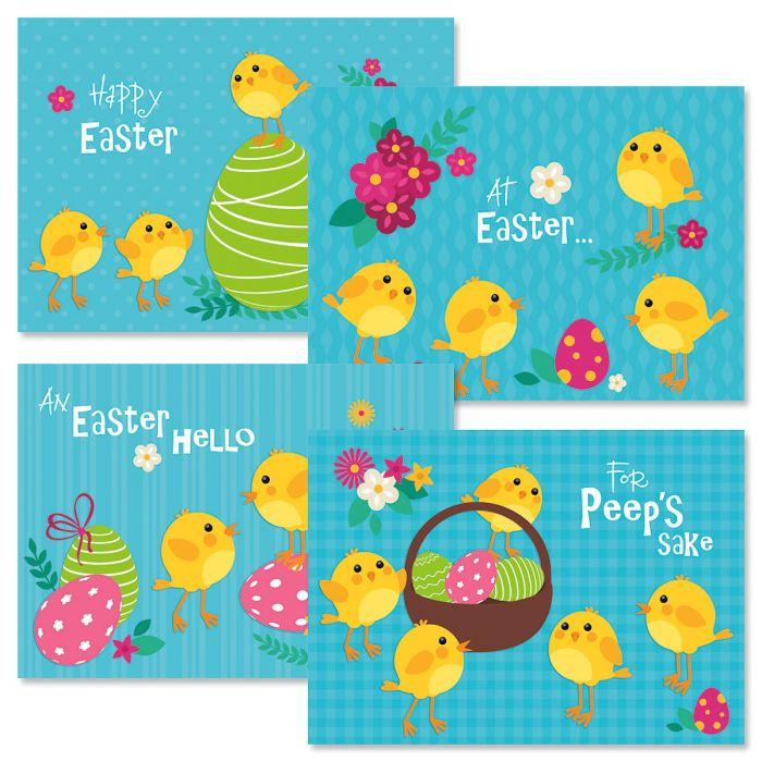 Chicks Easter Cards