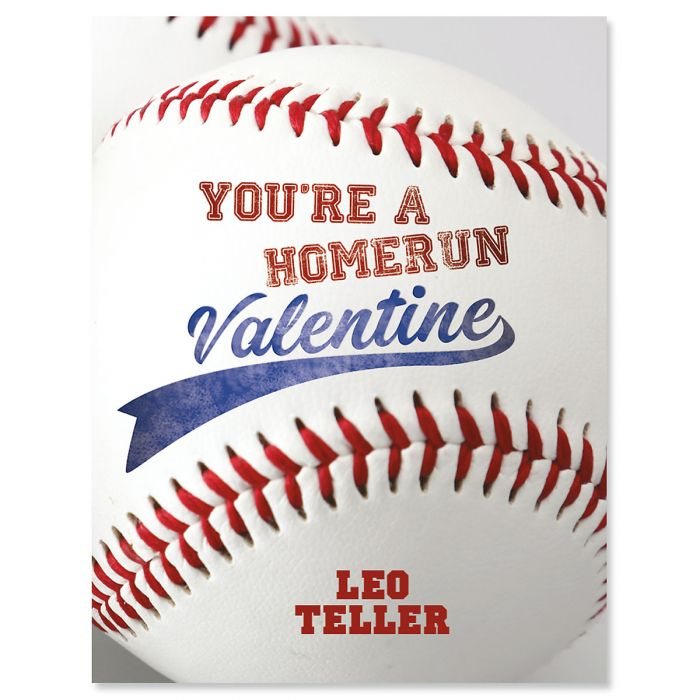 Personalized Sports Valentines - Baseball