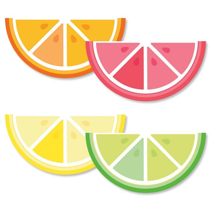 Diecut Summer Citrus Note Cards