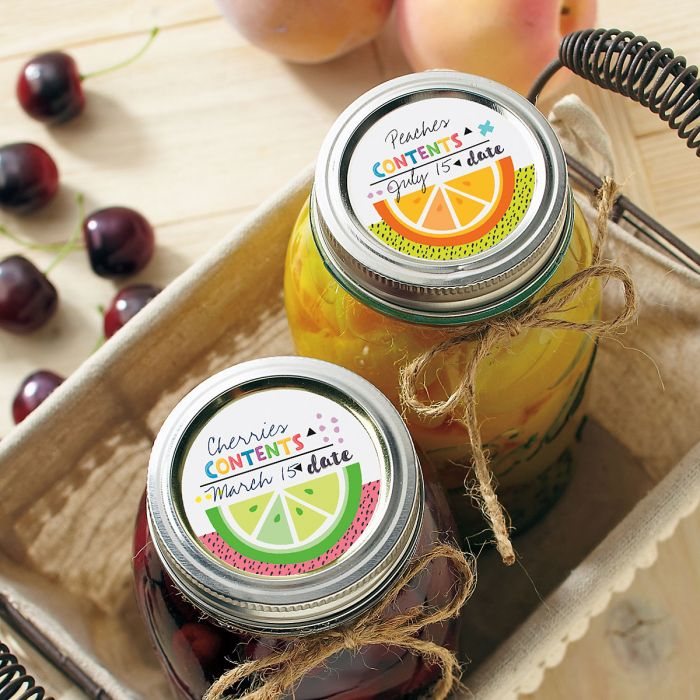 Fruity Mason Jar Stickers