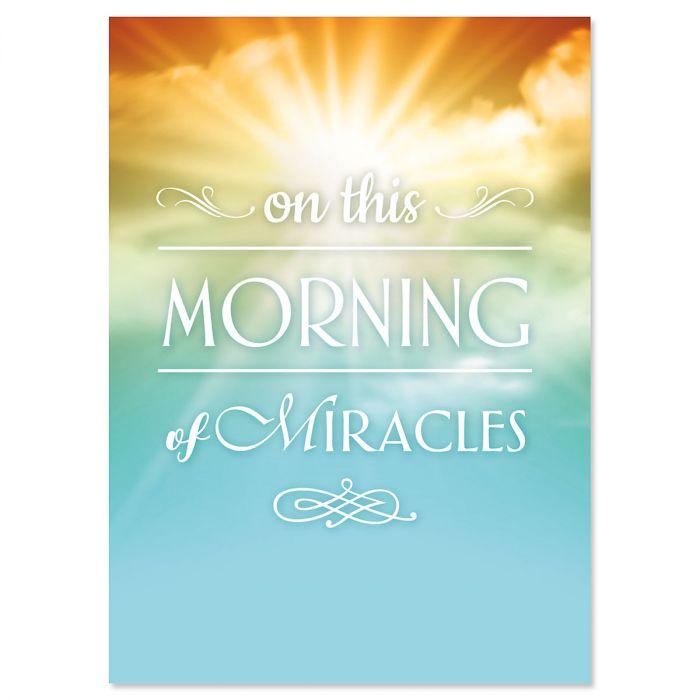 Sunrise Miracle Faith Easter Cards