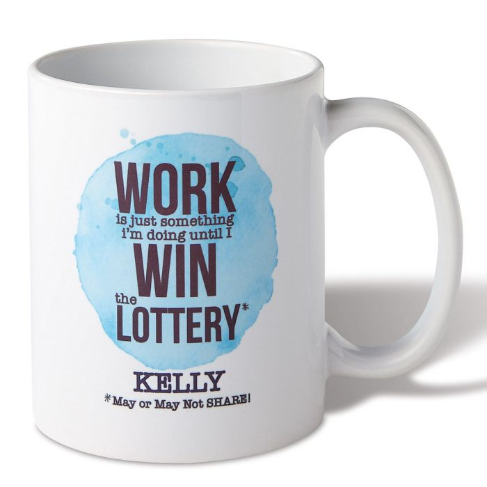 Personalized Win the Lottery Mug