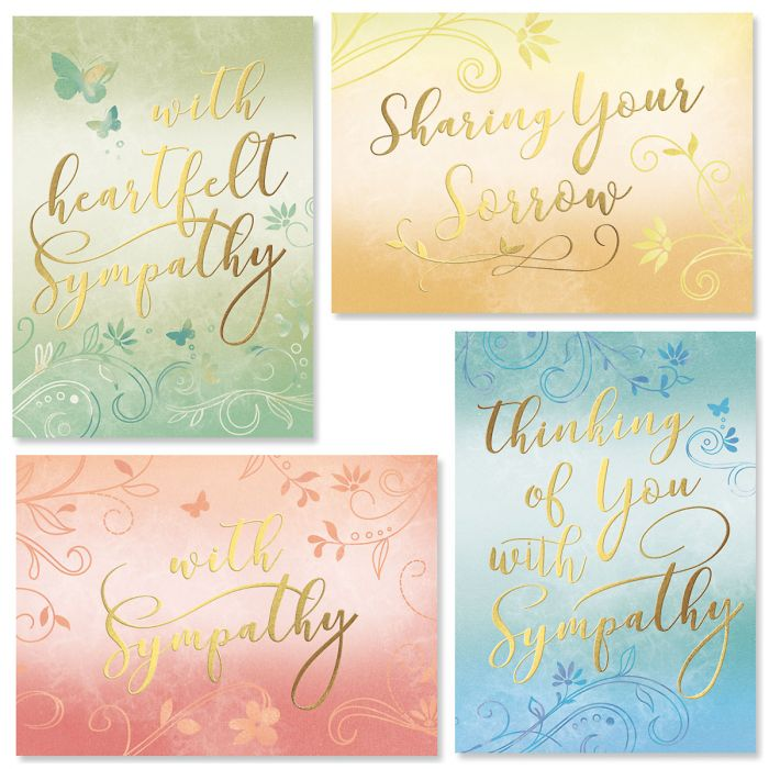 Deluxe Ombre Sympathy Cards