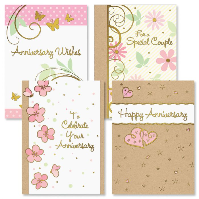 Deluxe Classic Wishes Anniversary Cards and Seals