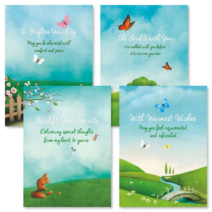 Scenic Concern Friendship Faith Cards and Seals