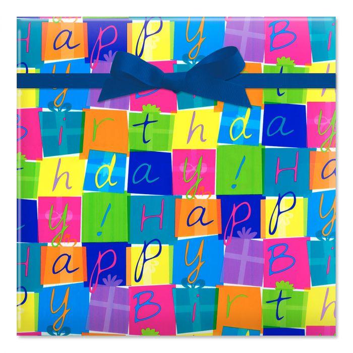 Birthday Boxes Jumbo Rolled Gift Wrap