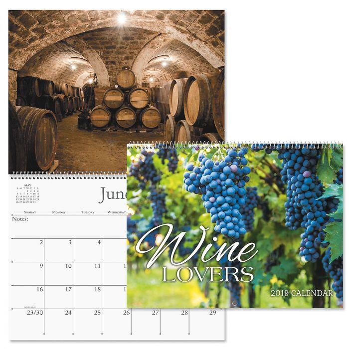 2019 Wine Lovers Wall Calendar