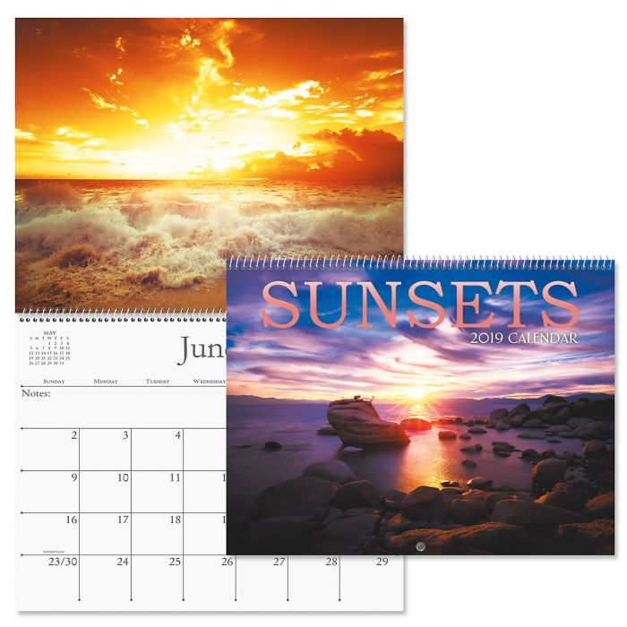 2019 Sunsets Wall Calendar