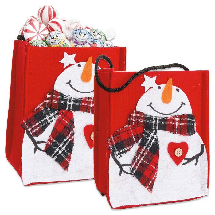 Snowman Felt Treat Bags