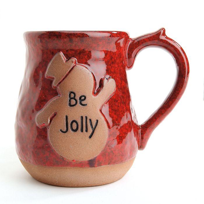 Be Jolly Snowman Ceramic Holiday Mug