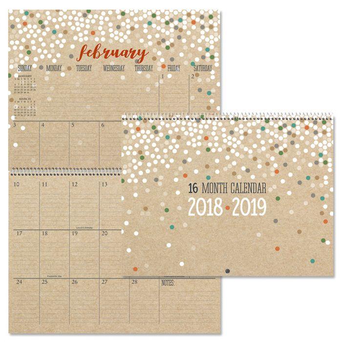 2019 Kraft Big Grid 16-Month Planning Calendar