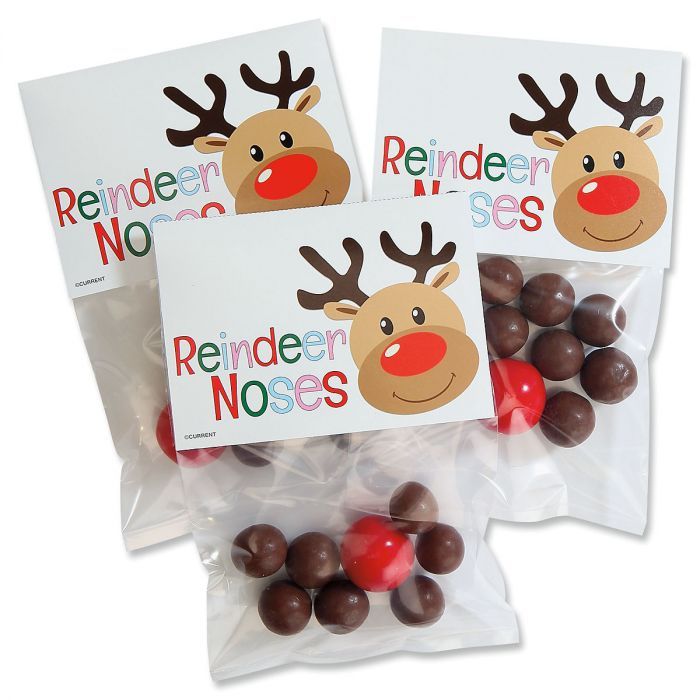 Reindeer Noses Treat Bags & Toppers
