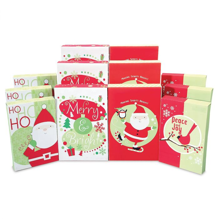 Printed Christmas Shirt Boxes Gift Box Value Pack