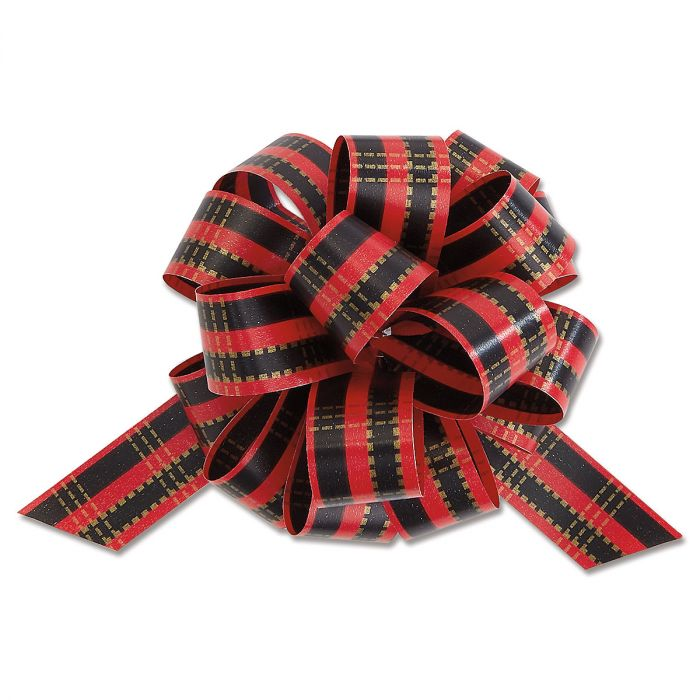 Red Plaid Pull Bow Value Pack