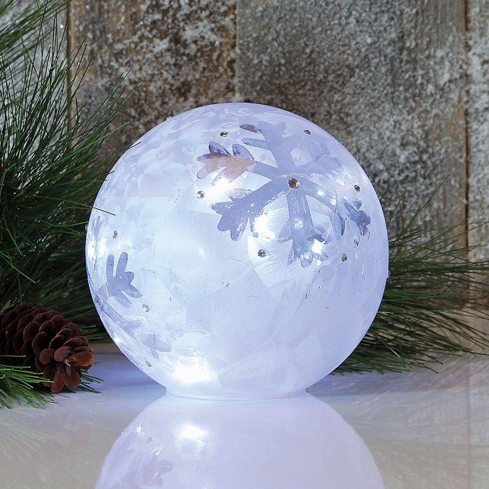 LED Snowflake Globe