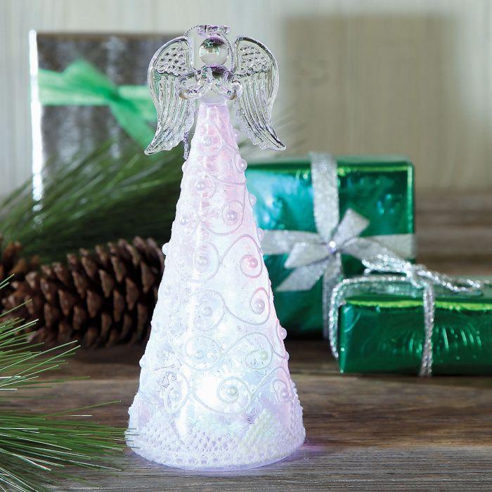 Beaded Glass Angel Ornament