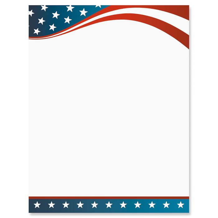 4th of July Letter Papers